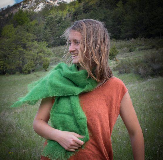 écharpe mohair et soie