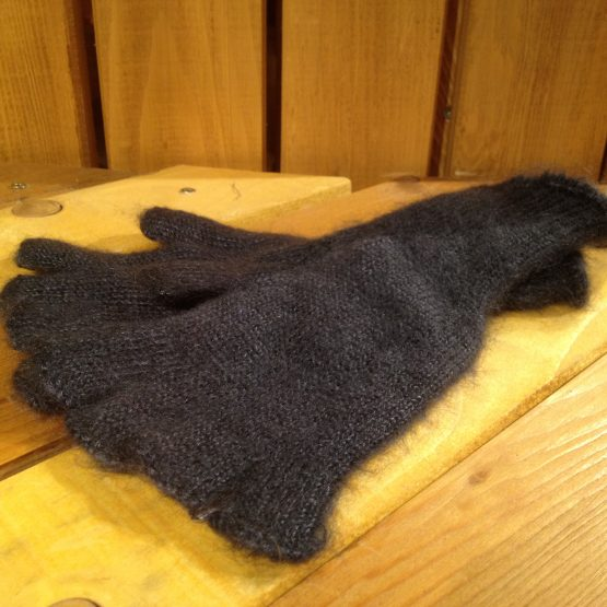 mitaines mohair couleur gris anthracite