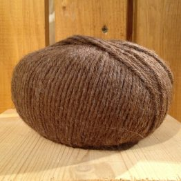 pelote de laine alpaga alpalaine marron