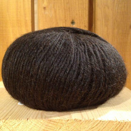 pelote de laine alpaga alpalaine noir
