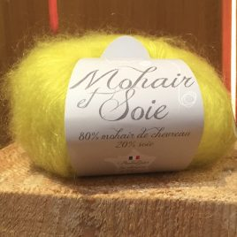 Pelote mohair et soie «Diva» Citron