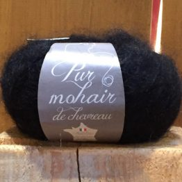 Caresse pelote pur mohair de chevreau Noir