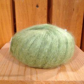 pelote mohair et soie vert pomme