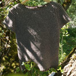 pull merinos manches courtes gris