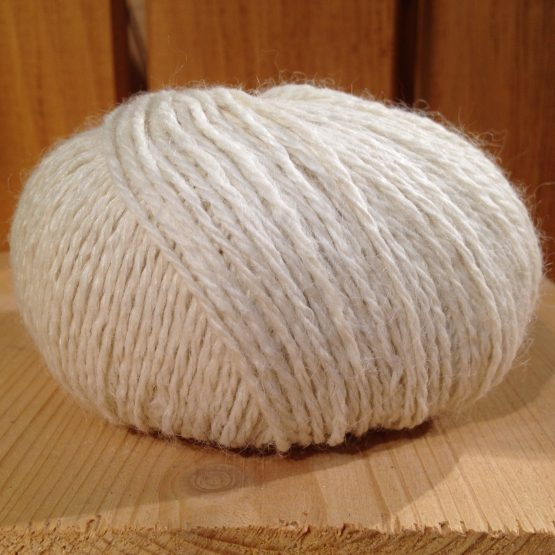 pelote de laine 100% alpaga écru