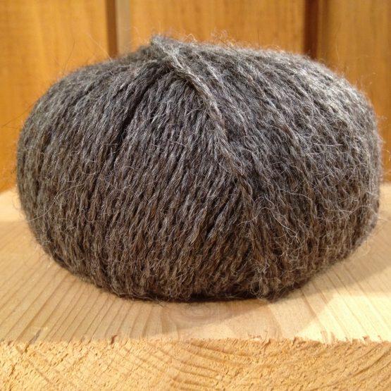 pelote de laine 100% alpaga gris