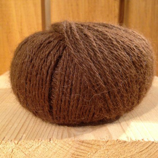 pelote de laine 100% alpaga marron
