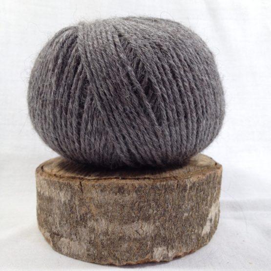 pelote alpaga mérinos couleur gris