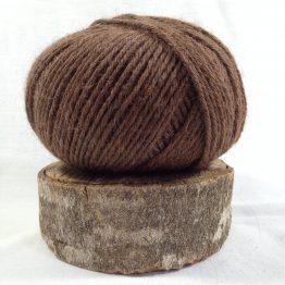 pelote alpaga mérinos couleur marron