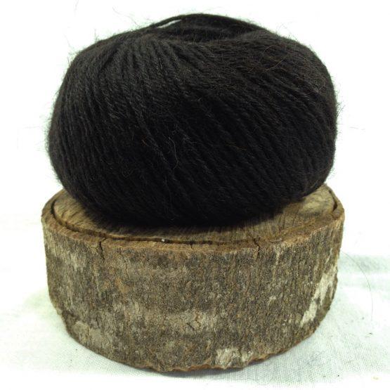 pelote alpaga mérinos couleur noir