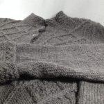 veste alpaga mérinos gris