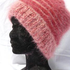 Kit bonnet bicolore en angora