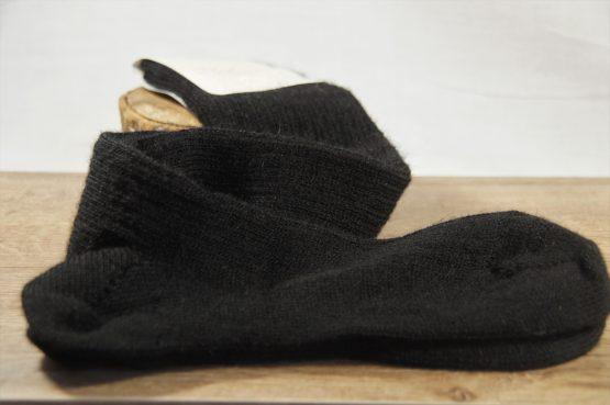 chaussettes longues en mohair français noir