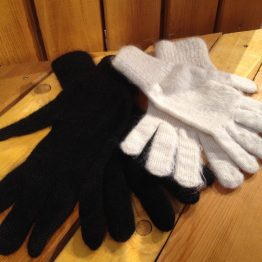 gants mohair et soie