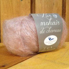 pelote en laine pur mohair beige rosé