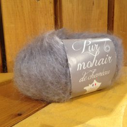 pelote en laine pur mohair hibou