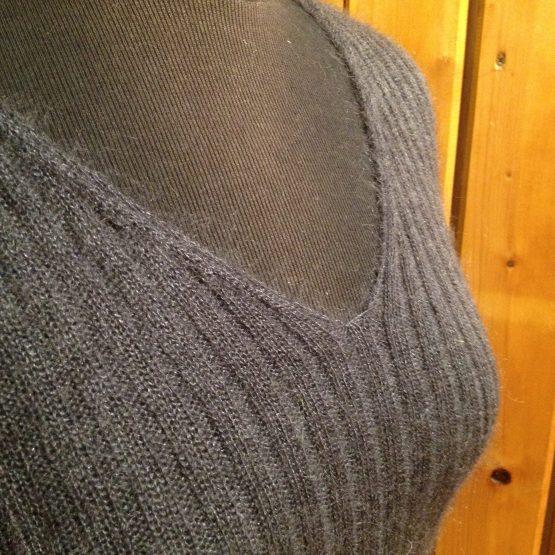 pull femme laine mohair gris