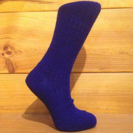 chaussettes en mohair bleu