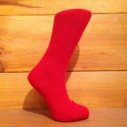 chaussettes en mohair rouge