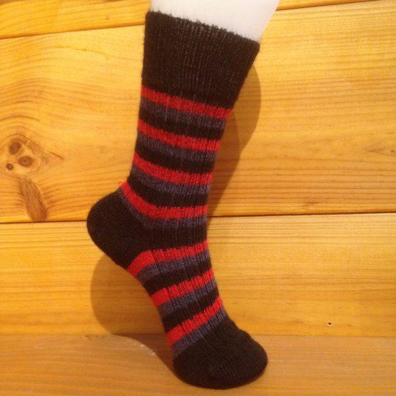 chaussettes en mohair rayées