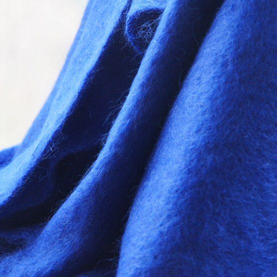 plaid en mohair bleu