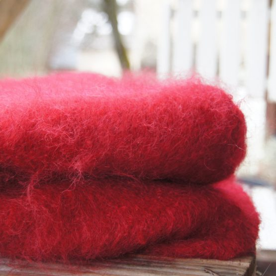 plaid en mohair rouge