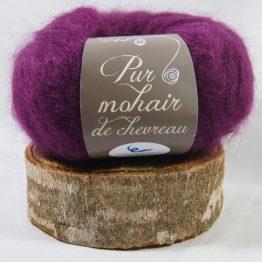 pelote pur mohair français prune
