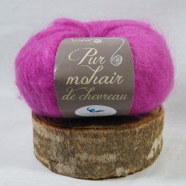 pelote pur mohair français rose indien