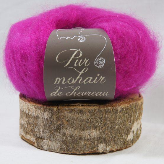 pelote pur mohair français rose thyrien
