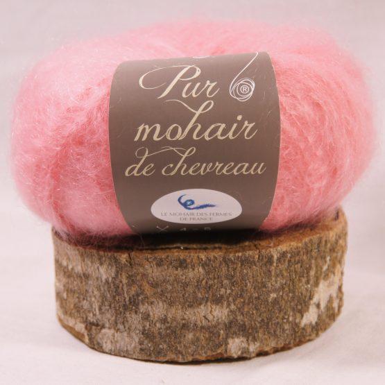 pelote pur mohair français rose andalou