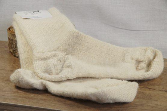 chaussetttes en alpaga français écru
