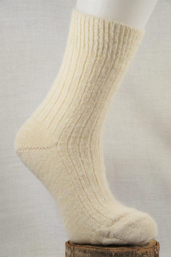 chaussettes en alpaga français écru