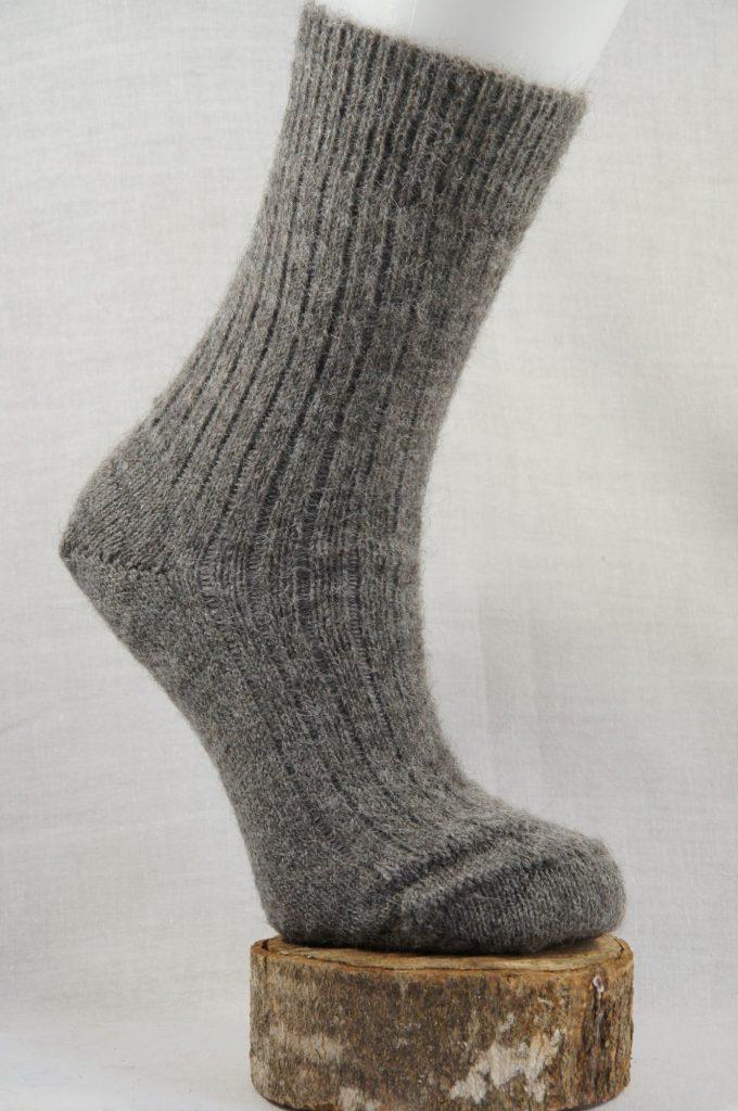 chaussettes en alpaga français gris
