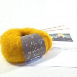 kit tricot débutant : le bonnet en mohair