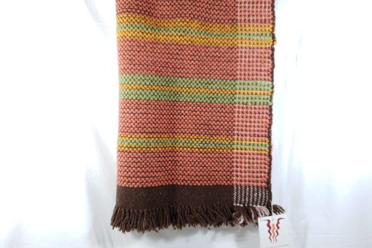 couverture tissée en laine mérinos