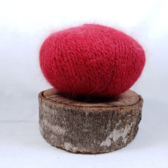 pelote angora français couleur framboise