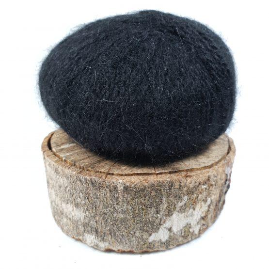 pelote en angora français noir