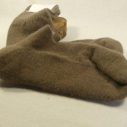 chaussettes en angora français couleur chataîgne