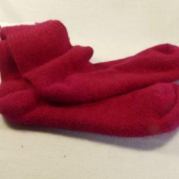 chaussettes en angora rouge