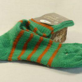 chaussettes en mohair couleur perroquet navel