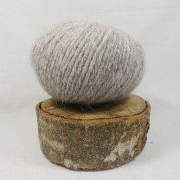 pelote angora givrée marron