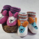 chaussons bébé en laine angora