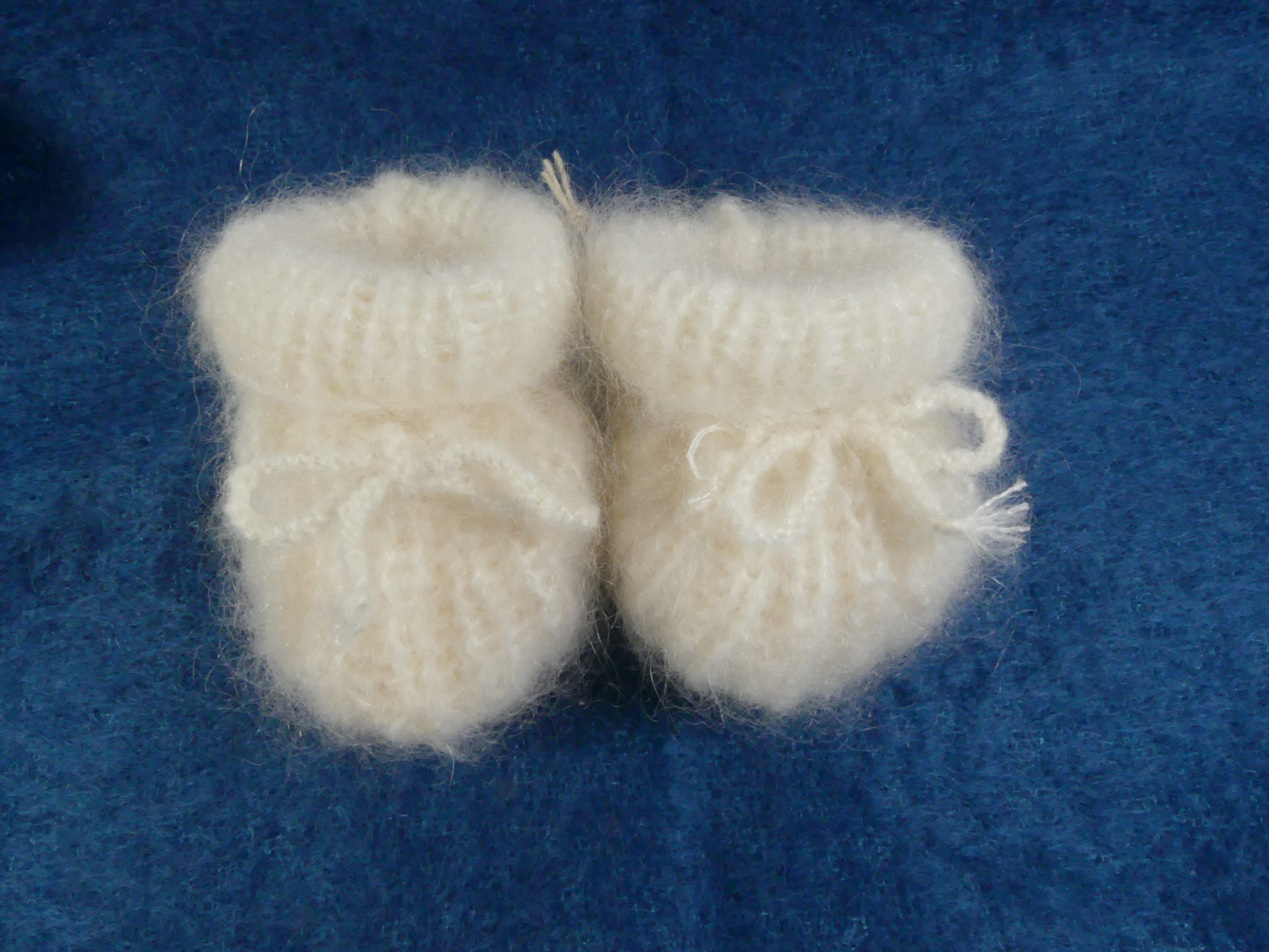 chaussons bébé pur mohair